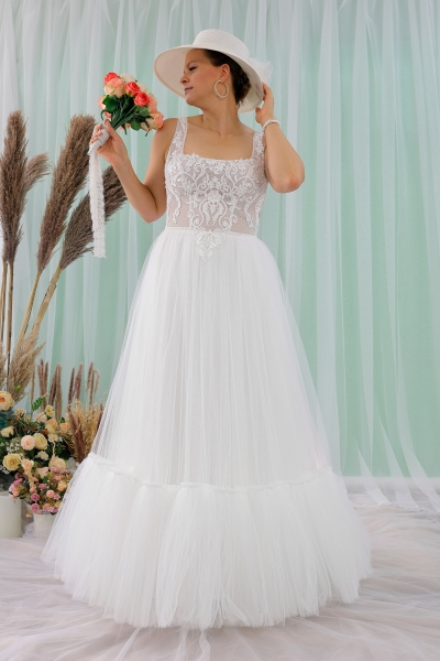 Schantal wedding dress from the collection Queen XXL, model 2312 XXL.