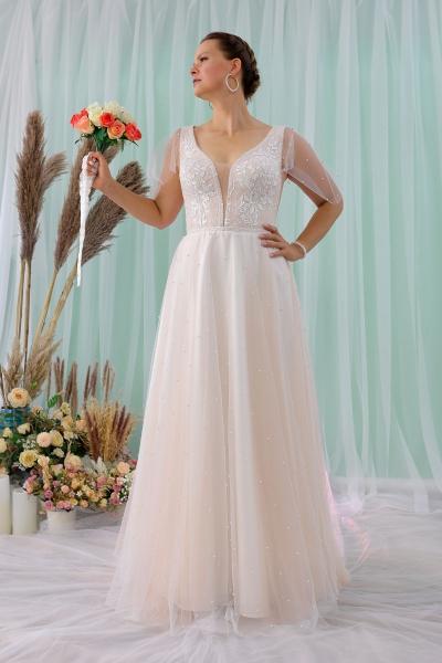 Schantal wedding dress from the collection Queen XXL, model 2313 XXL.